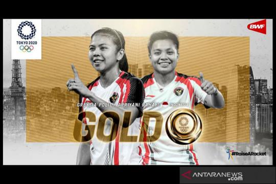 (Round Up) Dua medali untuk Indonesia dari bulu tangkis