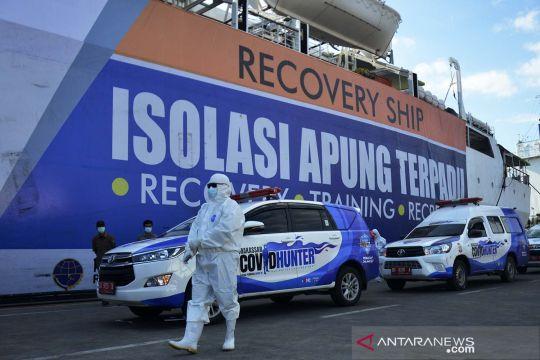 Kapal Pelni jadi lokasi isolasi apung terpadu pasien OTG COVID-19 di Makassar