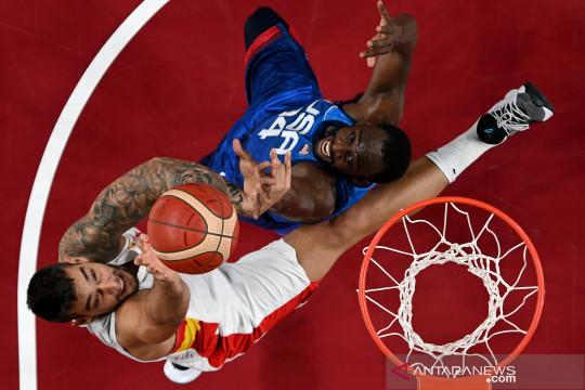 Basket putra Olimpiade 2020 : AS singkirkan Spanyol 95-81