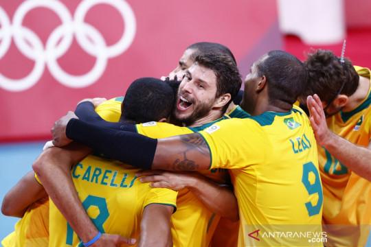 Voli putra Olimpiade 2020 : Brazil singkirkan tuan rumah Jepang