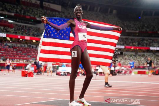 Athing Mu tuntaskan penantian emas AS dari 800m putri