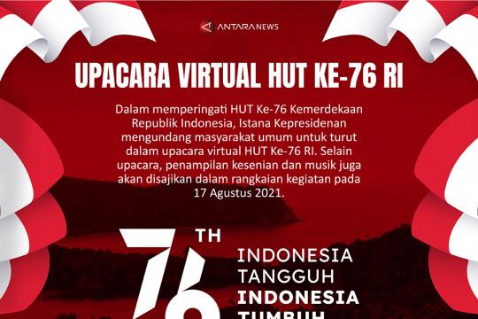 Upacara virtual HUT Ke-76 RI