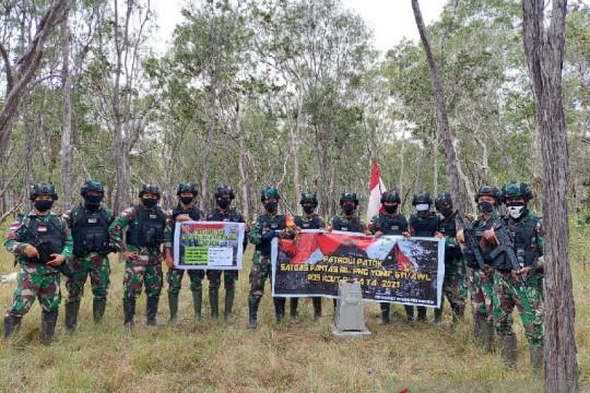 Satgas TNI pastikan patok batas negara perbatasan RI-PNG aman terjaga
