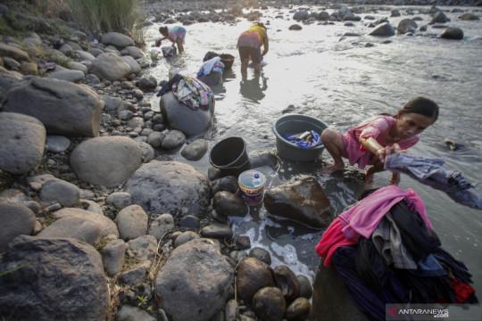 Sumur air di Bogor mulai kering