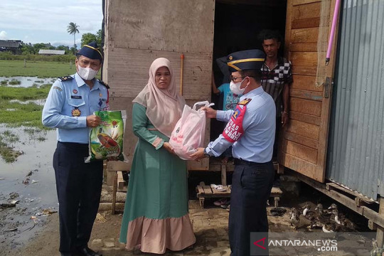 Kemenkumham Aceh menyaluran 616 paket bantuan sosial COVID-19