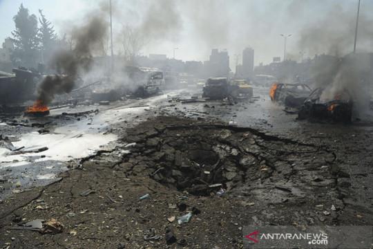 Satu tewas dalam kebakaran  bus militer di Damaskus