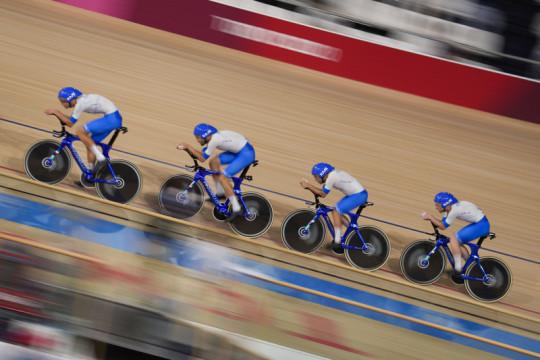 Italia pecahkan rekor dunia menangi emas balap sepeda beregu putra