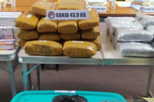 Polda Metro Jaya gagalkan peredaran 43,9 kilogram ganja