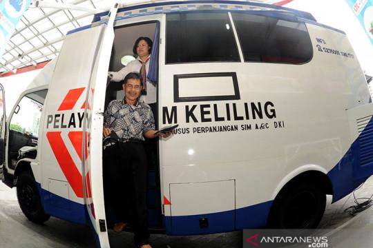 Ada lima lokasi pelayanan SIM Keliling di Jakarta Selasa ini