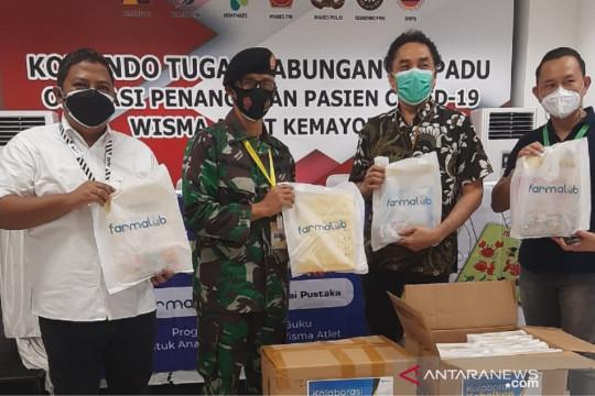 Balai Pustaka-Farmalab bagikan 1.000 paket buku pada pasien COVID-19