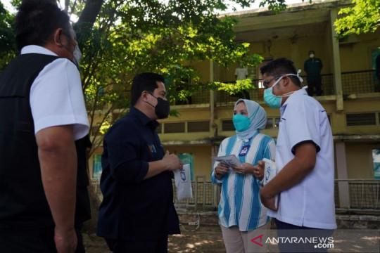 Erick Thohir pastikan karyawan BUMN isoman di Sumsel terjamin obatnya