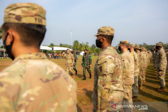 Jenderal TNI Andika-Jenderal Flynn buka Latihan Garuda Shield ke-15