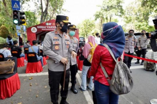 Kapolda: 7.538 orang telah divaksin di Taman Bungkul Surabaya