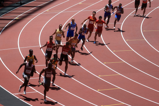 AS terlempar tak bisa lolos final estafet 4x100m putra