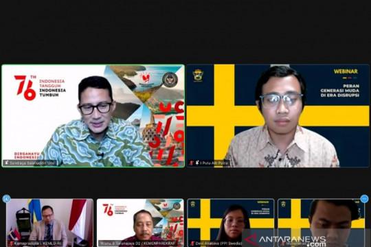 Sandiaga ajak pelajar Indonesia di Swedia promosikan pariwisata RI