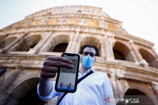 "Turis Italia wajib punya ""green pass"" untuk datangi lokasi wisata"
