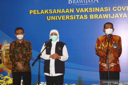 Gubernur Jawa Timur dorong akselerasi vaksinasi di Malang Raya