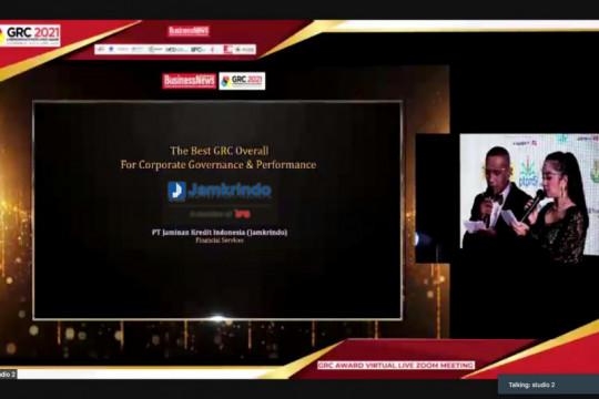 Jamkrindo raih apresiasi di GRC & Perfomance Excellence Award 2021
