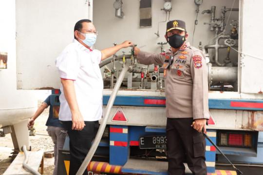 Polda Lampung salurkan oksigen gratis untuk masyarakat