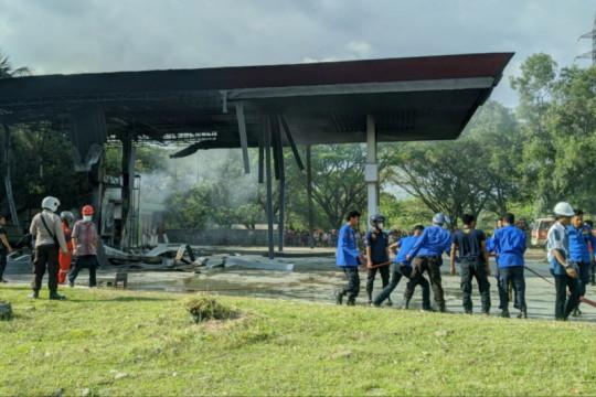 Satu orang tewas akibat kebakaran di SPBU Pangkep