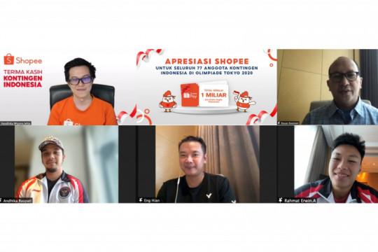 Shopee beri bonus Rp1 miliar untuk kontingen Indonesia di Olimpiade