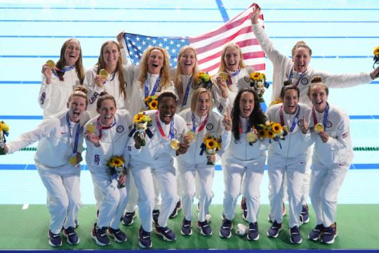 AS sabet emas polo air putri tiga Olimpiade berturut-turut