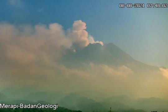 Awan panas guguran meluncur lima kali dari Gunung Merapi