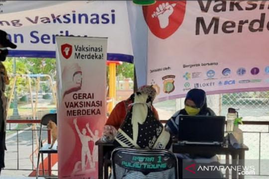 143 orang ikut Vaksinasi Merdeka di Polres Kepulauan Seribu