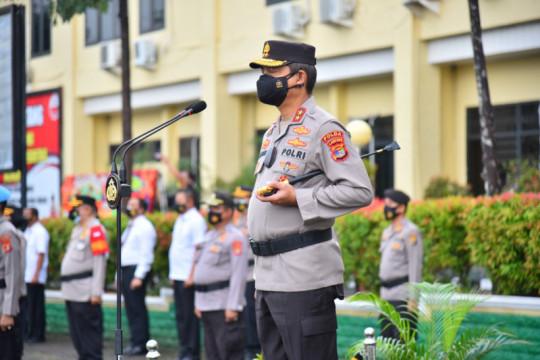 Kapolda Lampung tegaskan penanganan COVID kepada pejabat baru dilantik