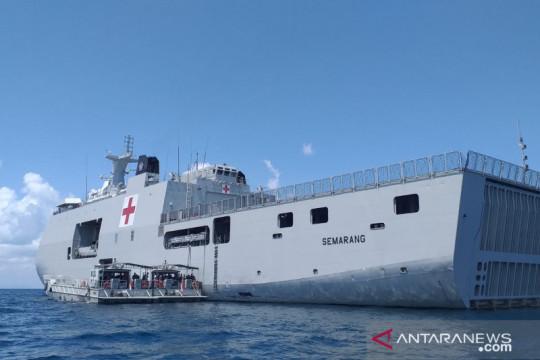 KRI Semarang-594 tiba di Belitung bantu produksi oksigen