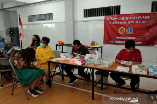 Ratusan pelajar SMP-SMU Yogyakarta ikuti vaksinasi COVID-19 dosis dua