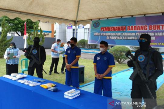 BNNP Sultra musnahkan barang bukti 1,6 kilogram sabu-sabu