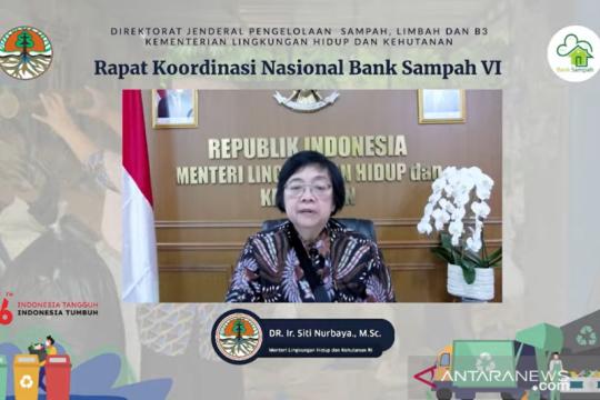 Menteri LHK: Pengelolaan sampah Indonesia capai 55,96 persen