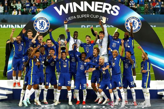 Chelsea rebut trofi juara UEFA Super Cup 2021