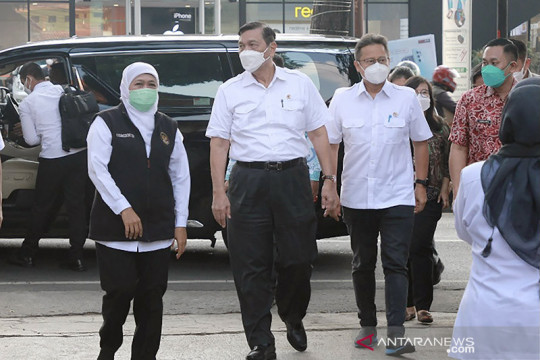 Menko Marves dan Menkes cek penanganan COVID-19 di Malang Raya