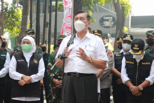 Forkopimda Jatim dampingi Luhut cek penanganan COVID-19 Malang