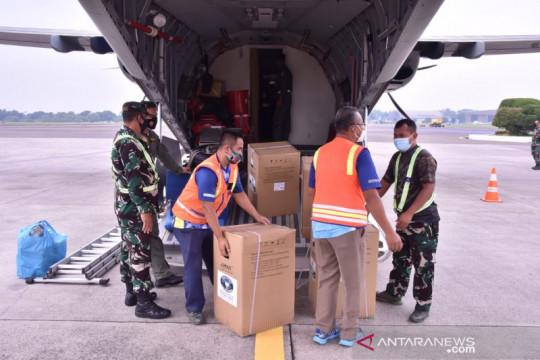 TNI AU kirim bantuan alat kesehatan seberat 1.384 ton ke Sumatera