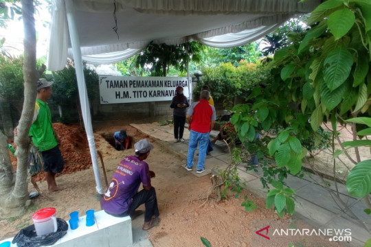 Ibunda Mendagri Tito Karnavian dimakamkan di TPU Kebun Bunga Palembang