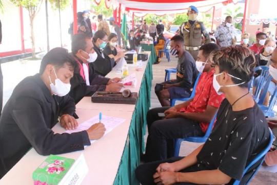 Sebanyak 112 orang terjaring dalam operasi yustisi di Abepura Papua