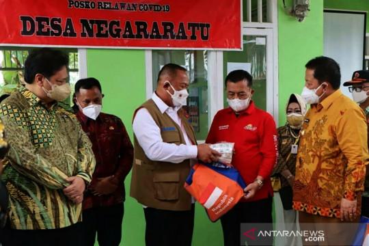 Menko Perekonomian tinjau PPKM di Desa Negara Ratu Lampung