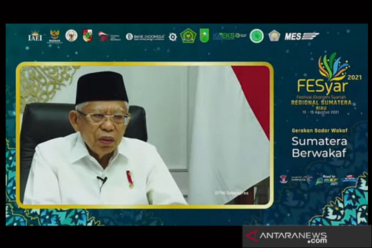 Wapres: Wakaf uang berpotensi besar dikembangkan di Indonesia