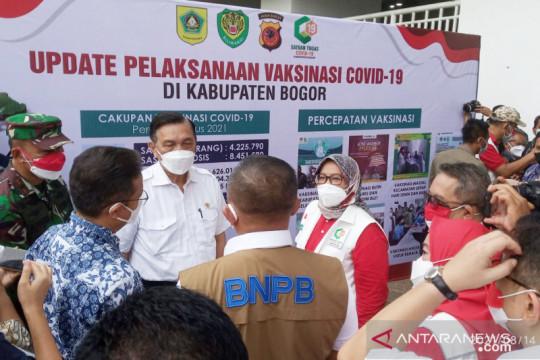 Menko Marves dan Menkes tinjau vaksinasi 11.000 dosis di Bogor