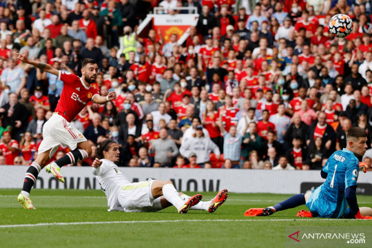 Liga Inggris: Babak pertama usai Manchester United unggul 1-0 atas Leeds United