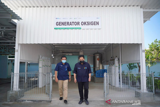 Menteri BUMN aktifkan unit produksi oksigen di Petrokimia Gresik
