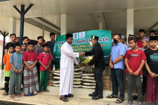 Momen HUT Kemerdekaan, HMI Aceh bagikan 1 ton beras bagi yatim-dhuafa