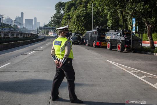 Pengalihan lalu lintas di Gedung DPR bersifat situasional