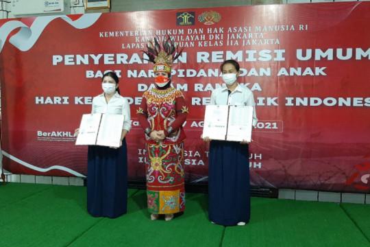 149 narapidana Lapas Perempuan Pondok Bambu terima remisi