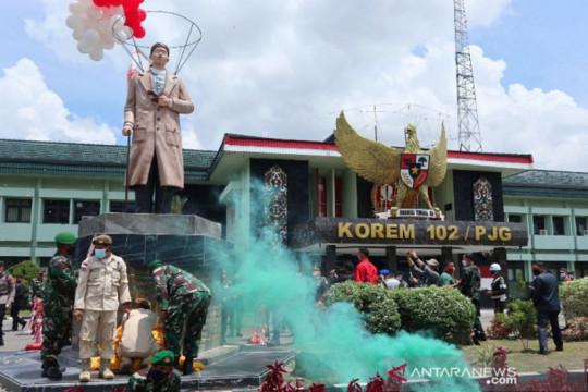 Patung Garuda Pancasila-Jenderal Soedirman di Palangka Raya diresmikan