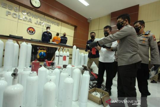 Polda Jatim bongkar peredaran tabung oksigen palsu di Surabaya