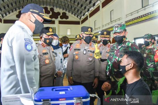 Kakorlantas pastikan vaksinasi-PPKM di Medan berjalan lancar